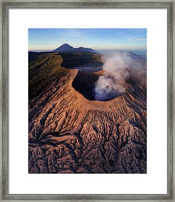 Framed Print featuring the photograph Mount Bromo At Sunrise by Pradeep Raja Prints