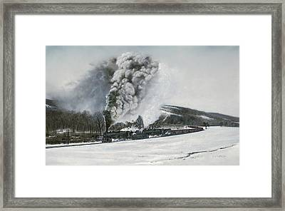 Mount Carmel Eruption Framed Print by David Mittner