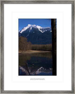 Mount Cheam2 Framed Print by Peter Classen