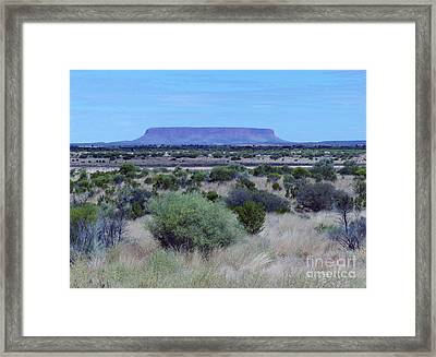 Mount Conner - Northern Territory Framed Print by Phil Banks