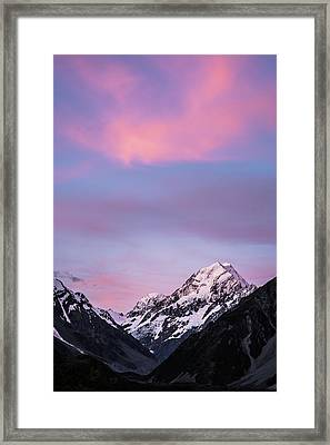 Mount Cook Sunset Framed Print