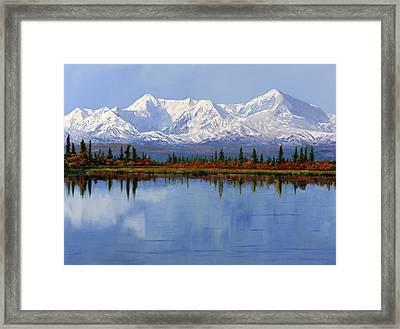 mount Denali in Alaska Framed Print