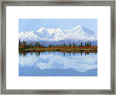 mount Denali in Alaska Framed Print by Guido Borelli
