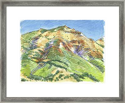 Mount Diablo From Curry Valley Ridge Framed Print