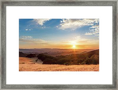 Mount Diablo Sunset Framed Print