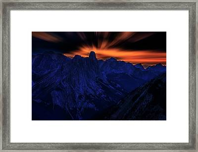 Framed Print featuring the photograph Mount Doom by John Poon