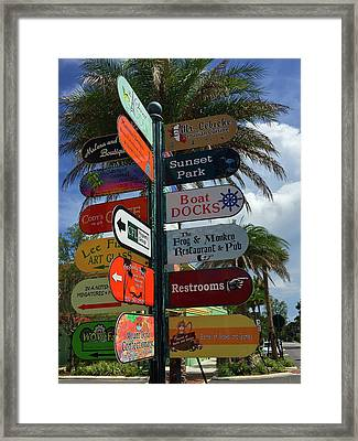 Mount Dora Options Framed Print by Denise Mazzocco