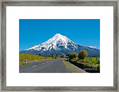 Mount Egmont Taranaki New Zealand Framed Print