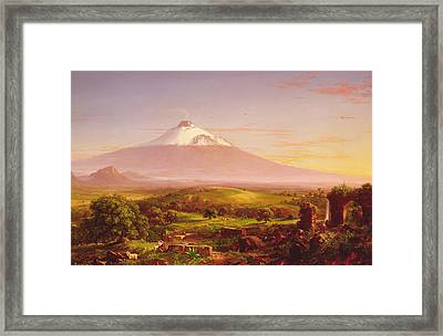 Mount Etna Framed Print by Thomas Cole