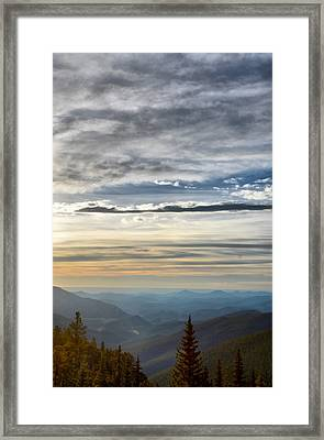 Mount Evans Painterly 1 Framed Print by Angelina Vick