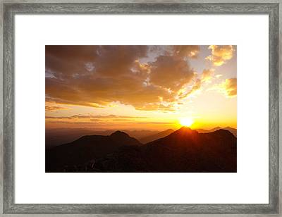 Mount Evans Sunset Framed Print