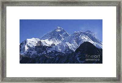 Framed Print featuring the photograph Mount Everest Nepal by Rudi Prott