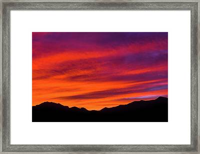 Mount Franklin Purple Sunset Framed Print