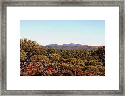 Mount Gibson Station To Mt Singleton Framed Print