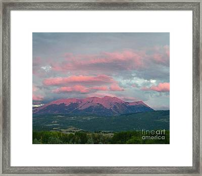 Mount Gunnison Sunset In Colorado Framed Print by Dale Jackson