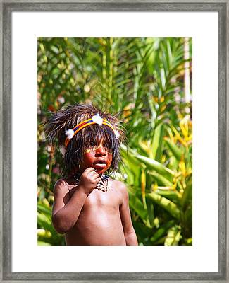Mount Hagen Papua New Guinea Aog 91 Framed Print by Per Lidvall