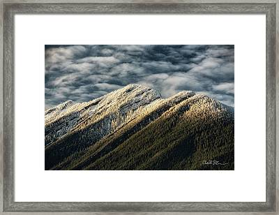 Mount Higgins Clouds Framed Print