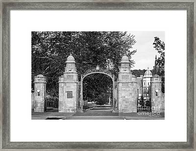 Mount Holyoke College Field Gate Framed Print