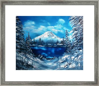Mount Hood - Opus 2 Framed Print by Larry Hamilton