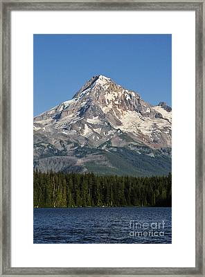 Mount Hood Above Lost Lake Framed Print