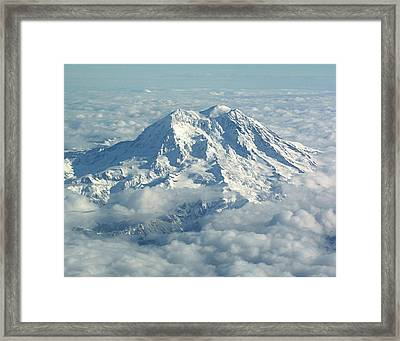 Mount Hood From Above Framed Print