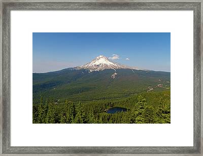 Mount Hood Over Mirror Lake Framed Print by David Gn