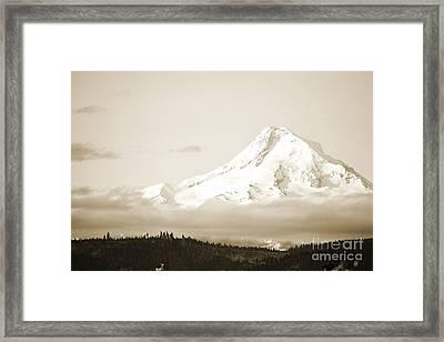 Mount Hood Snow Framed Print