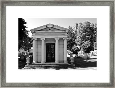 Mount Hope Black And White Framed Print by Richard Jenkins