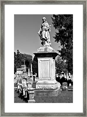 Mount Hope Monument Black And White Framed Print by Richard Jenkins
