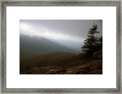 Mount Horrid Cliff Storm Framed Print by John Burk