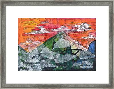 Mount Improbable Framed Print by Jessica Browne-White