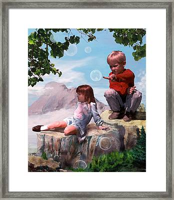 Framed Print featuring the painting Mount Innocence by Steve Karol