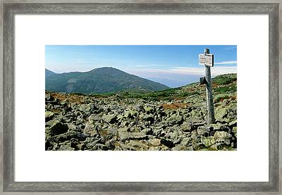 Mount Jefferson - White Mountains New Hampshire  Framed Print