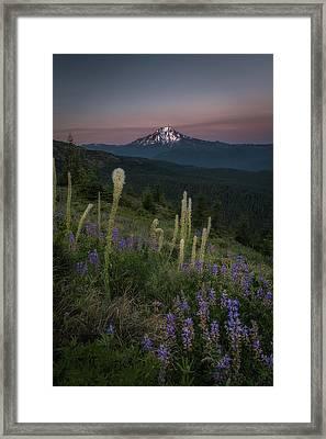 Mount Jefferson From Buck Mountain  Framed Print by Jeffrey Green