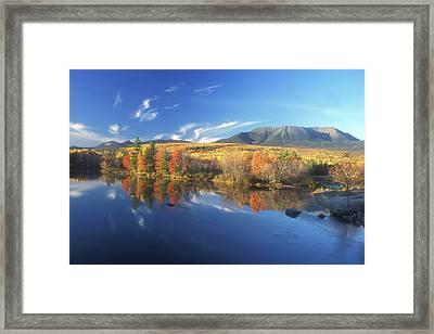 Mount Katahdin From Abol Bridge Framed Print