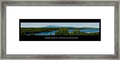 Mount Katahdin Framed Print by Venura Herath