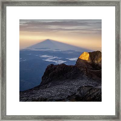 Mount Kinabalu Sunrise Framed Print