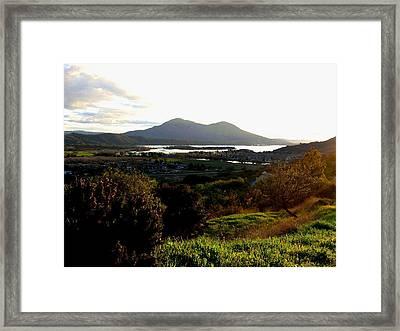 Mount Konocti Framed Print