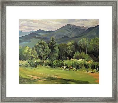 Mount Lafayette From Sugar Hill New Hampshire Framed Print