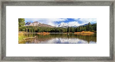 Framed Print featuring the photograph Mount Lassen Autumn Panorama by James Eddy