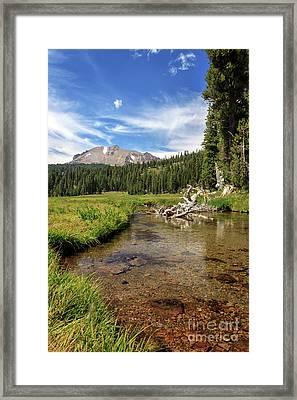 Mount Lassen From Kings Creek Framed Print