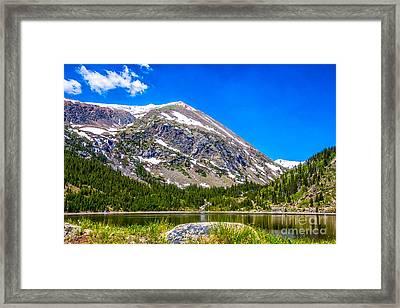 Mount Lincoln Framed Print by Dennis Wagner