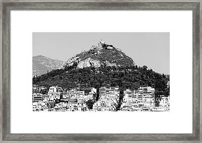 Mount Lykavittos Framed Print by John Rizzuto