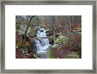 Mount Magazine Waterfall Framed Print by Deanna Cagle
