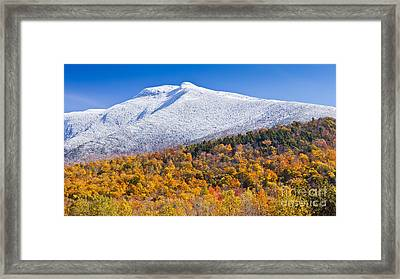 Mount Mansfield Seasonal Transition Framed Print