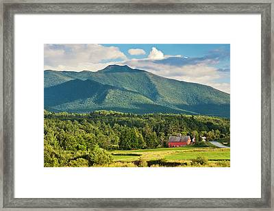 Mount Mansfield Summer View Framed Print