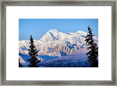 Framed Print featuring the photograph Mount Mckinley by Adam Owen