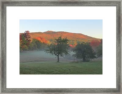 Mount Monadnock Autumn Morning Framed Print by John Burk
