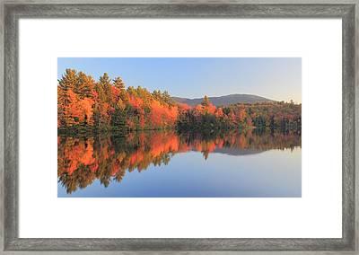 Mount Monadnock Early Autumn Reflections Framed Print by John Burk