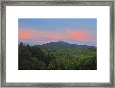 Mount Monadnock Spring Sunset Framed Print by John Burk